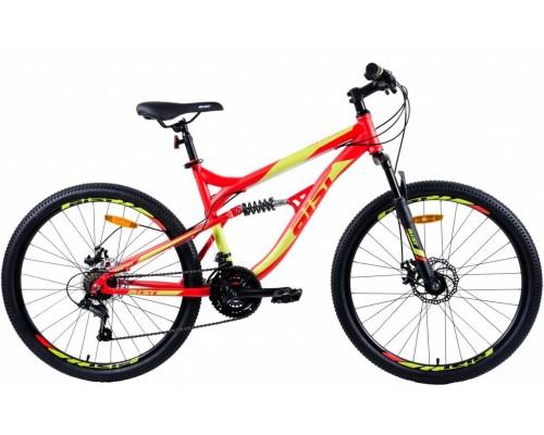 """Велосипед Aist Avatar Disc 26"""" (красный/зелёный)"""