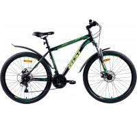"""Велосипед Aist Quest Disc 26"""" (черный/зеленый)"""