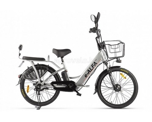 """Электровелосипед Eltreco Green City E-Alfa New 24"""" (серебристый)"""