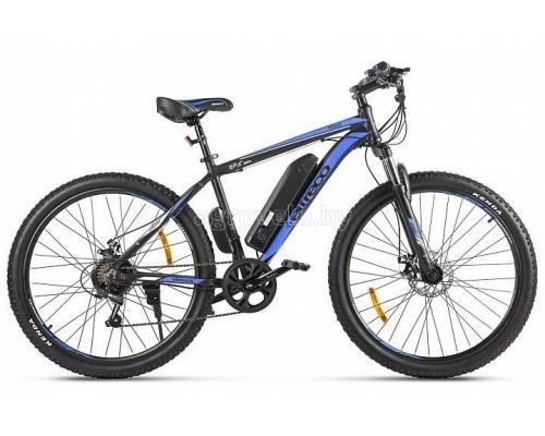 """Электровелосипед Eltreco XT 600 D 27.5"""" (черный/синий)"""