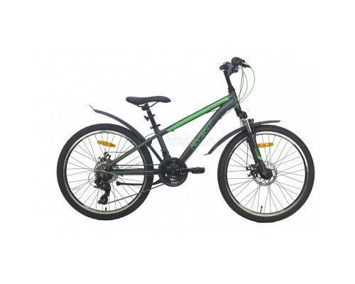 "Велосипед Aist Rocky Junior 2.1 24"" (серый, 2021)"