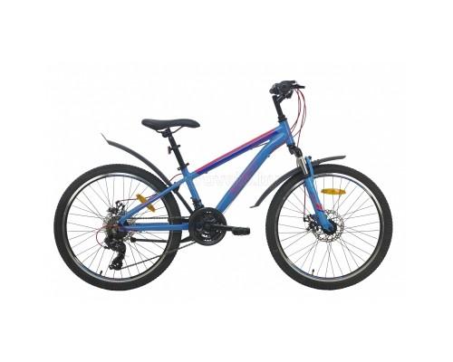 """Велосипед Aist Rocky Junior 2.1 24"""" (синий, 2021)"""