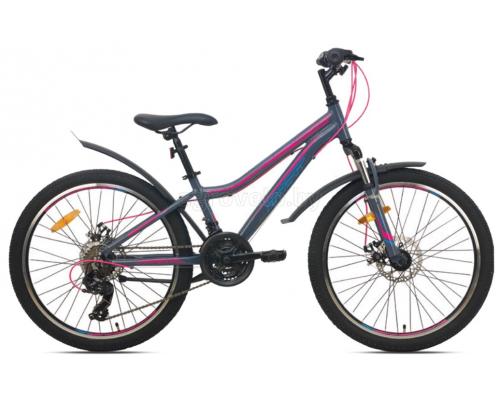 "Велосипед Aist Rosy Junior 2.1 24"" (серый, 2021)"