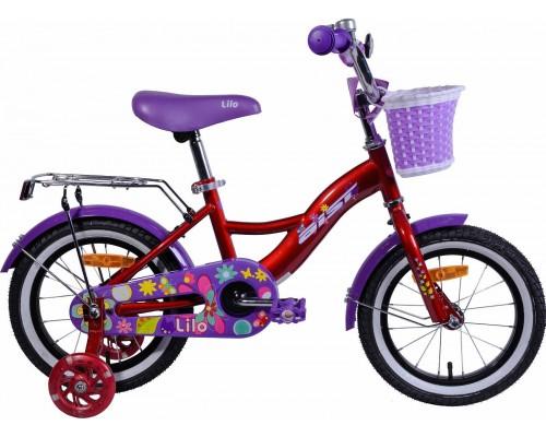 """Велосипед Aist Lilo 14"""" (бордовый/фиолетовый)"""
