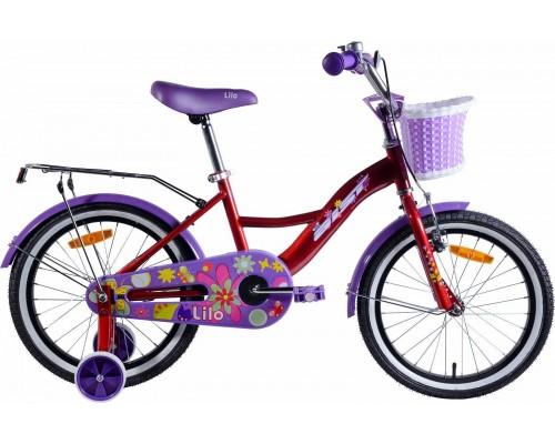 """Велосипед Aist Lilo 18"""" (бордовый/фиолетовый)"""