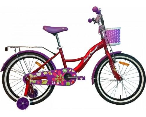 """Велосипед Aist Lilo 20"""" (бордовый/фиолетовый)"""
