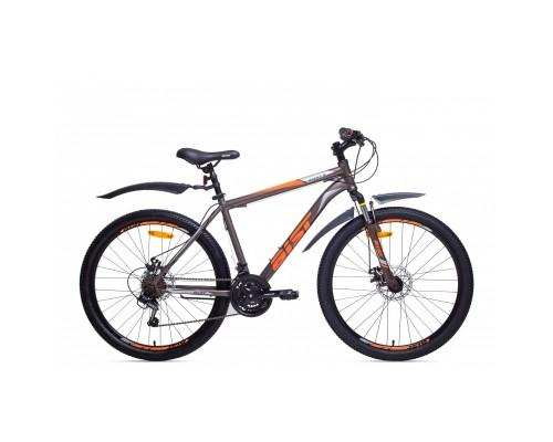"Велосипед Aist Quest Disc 26"" (серый/оранжевый)"