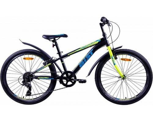 """Велосипед Aist Rocky Junior 1.0 24"""" (черный/салатовый/голубой)"""