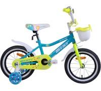 """Велосипед Aist Wiki 14"""" (бирюзовый/салатовый)"""