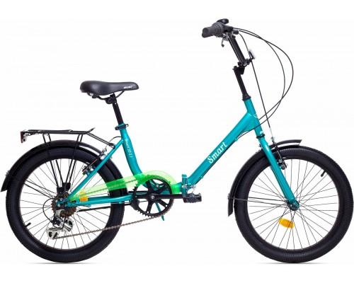 """Велосипед Aist Smart 2.1 20"""" (бирюзовый/салатовый)"""