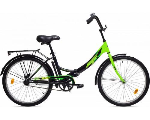 """Велосипед Aist Smart 1.0 24"""" (черный/зеленый)"""
