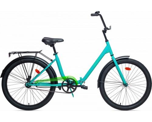 """Велосипед Aist Smart 1.1 24"""" (бирюзовый/салатовый)"""