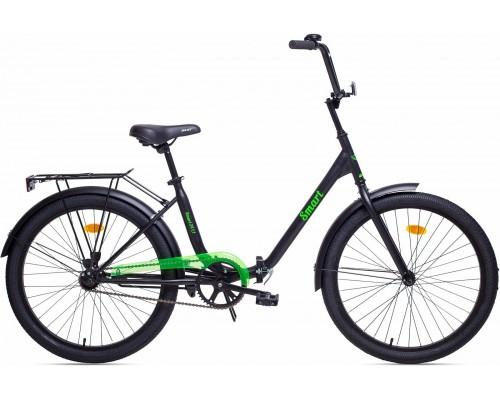 """Велосипед Aist Smart 1.1 24"""" (черный/салатовый)"""