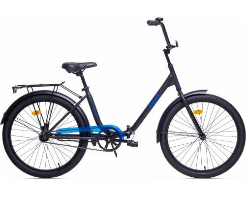 """Велосипед Aist Smart 1.1 24"""" (черный/голубой)"""